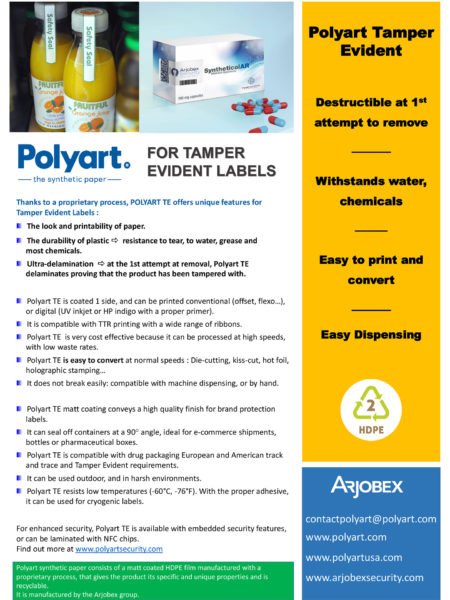 Polyart - for tamper evident labels