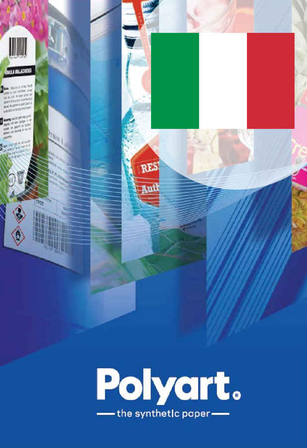 Polyart - brochure label italian