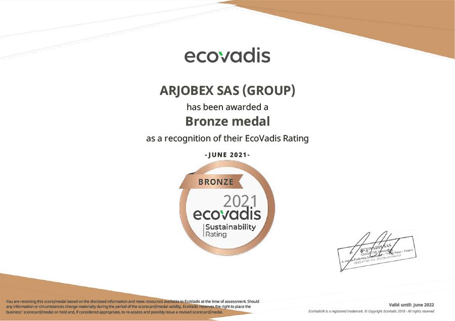 ARJOBEX_SAS_(GROUP)_EcoVadis_Rating_Certificate